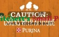 Purina Caution: Chicks With Attitude Metal Sign